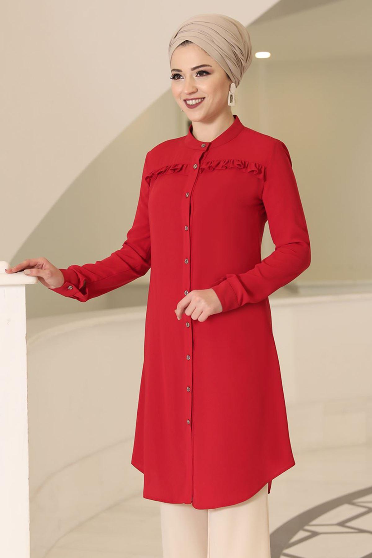 DressLife Akasya Tunik Kırmızı  DRE2015