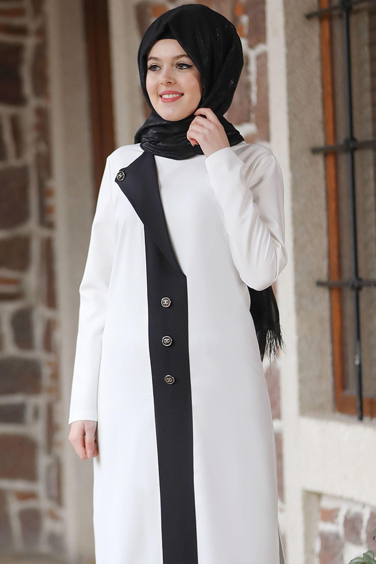 Esmaca Lina İkili Takım Beyaz ESC10021