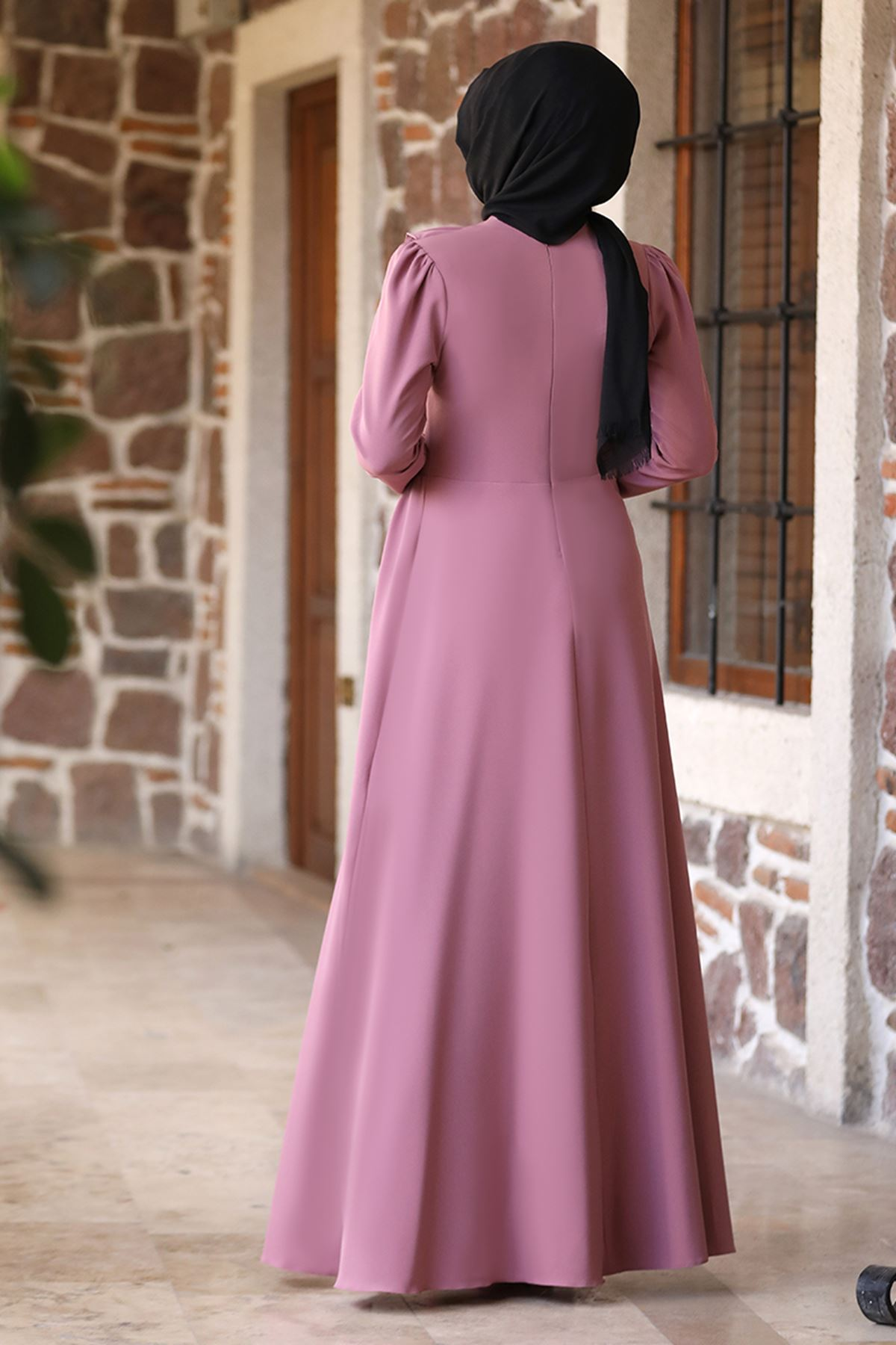 Rana Zenn Begüm Elbise Pudra RAN6928