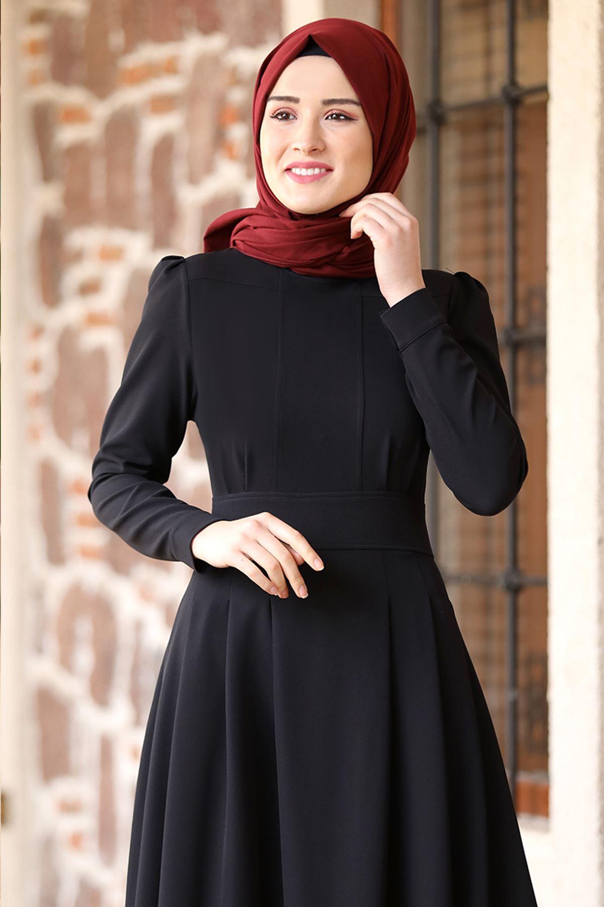 Rana Zenn Öykü Elbise Siyah RAN6930