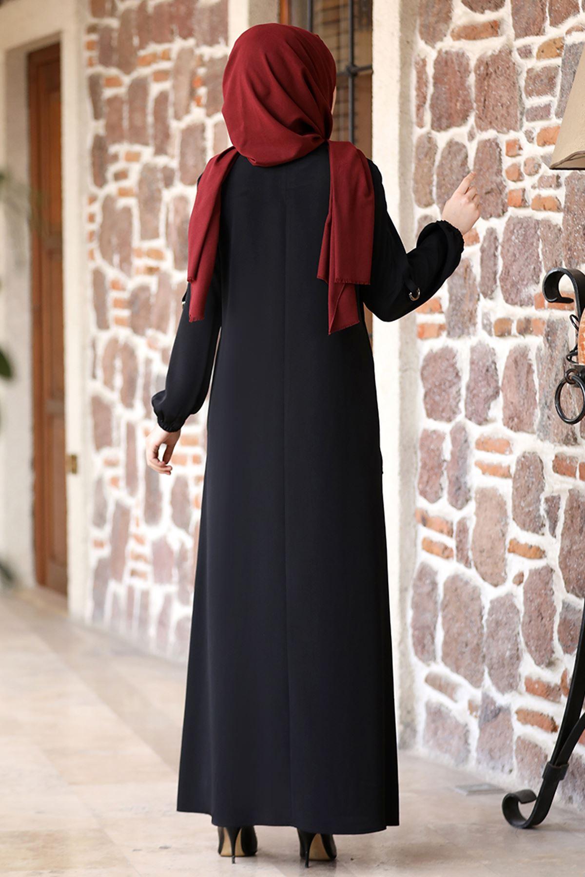 Rana Zenn Doğa Ferace Siyah RAN6933