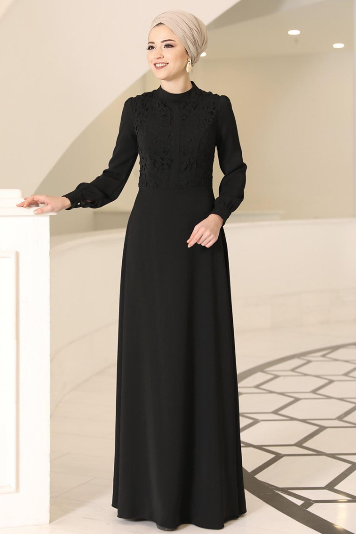 DressLife Mira Elbise Siyah DRE2022