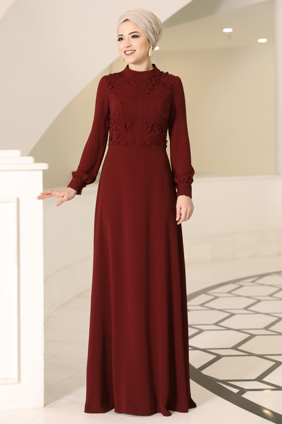 DressLife Mira Elbise Bordo DRE2022
