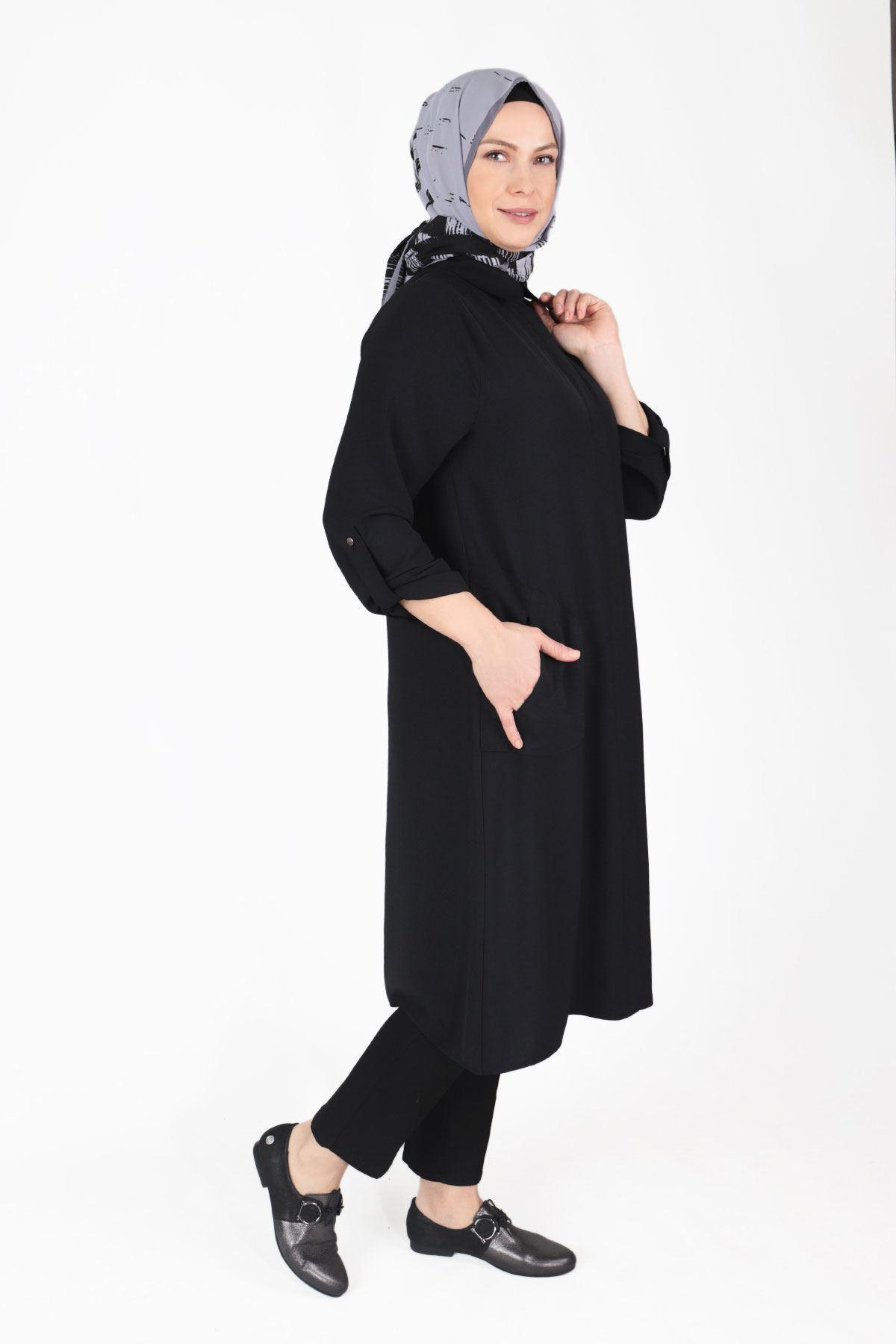 Büyük Beden Tesettür Kap Siyah 25017