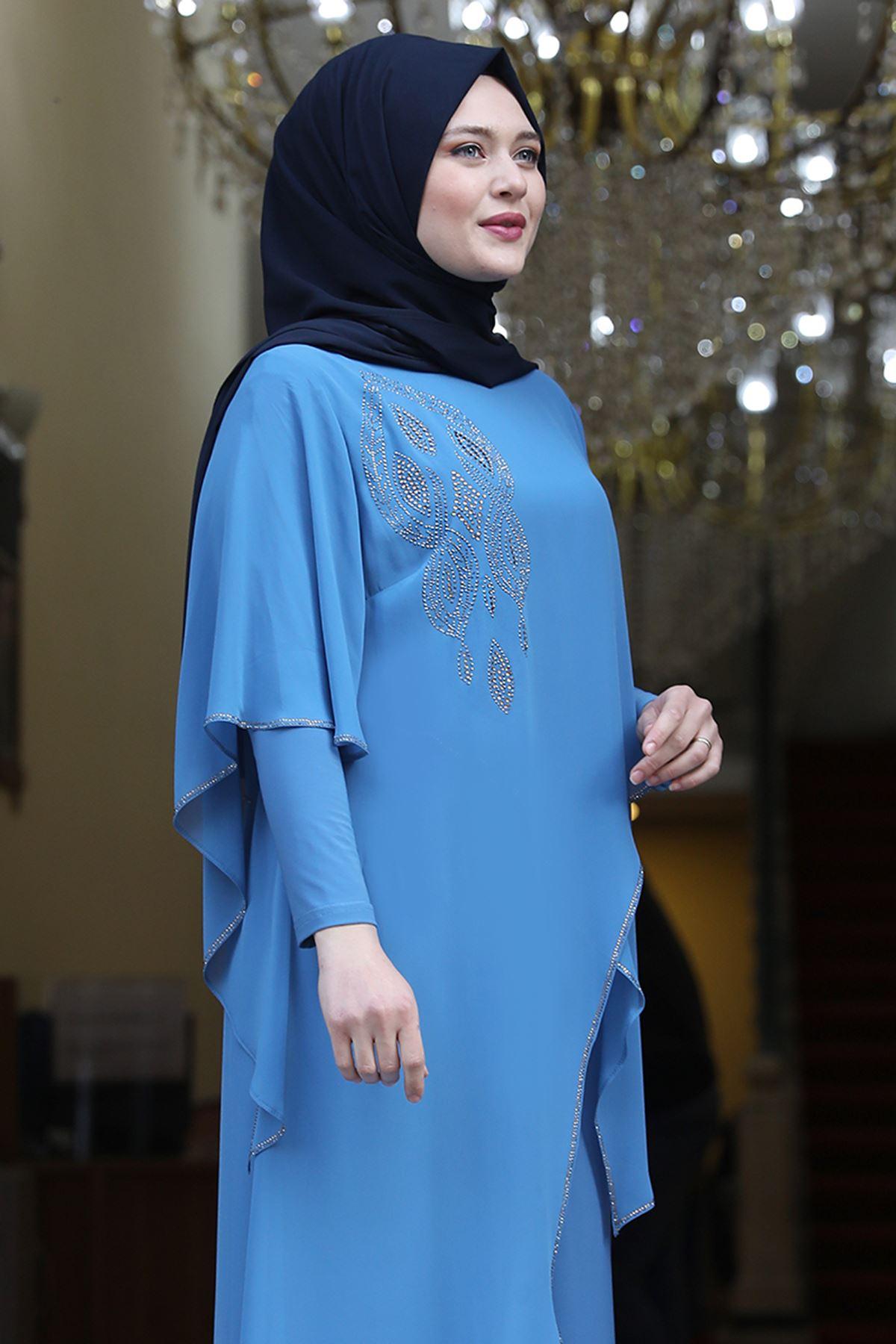 Amine Hüma Aylin Abiye Bebe Mavi AMİ1058