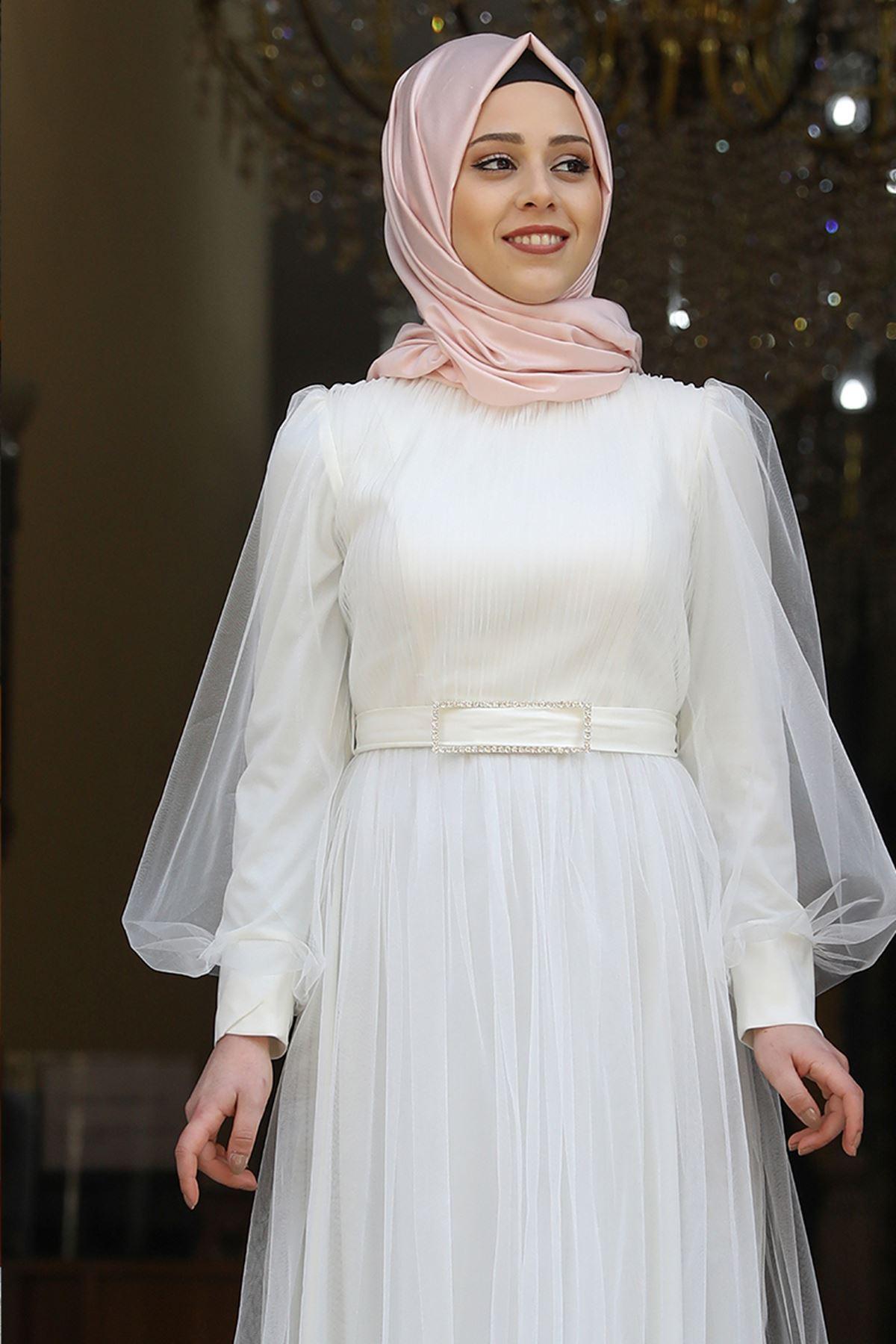 Amine Hüma Gonca Abiye Ekru AMİ1059