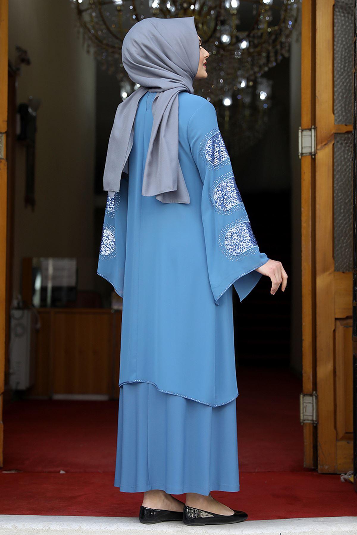 Amine Hüma Sahra Abiye Bebe Mavi AMİ1061