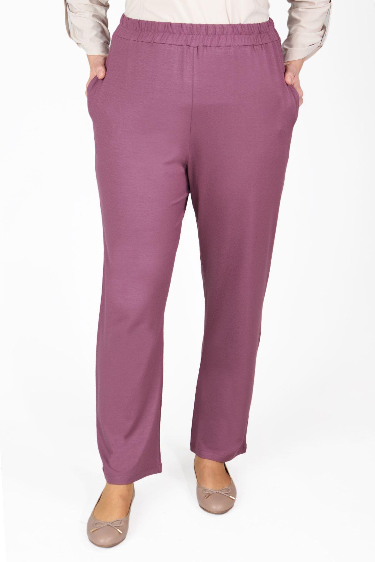 Viskon Bol Paça Pantolon Violet 10003