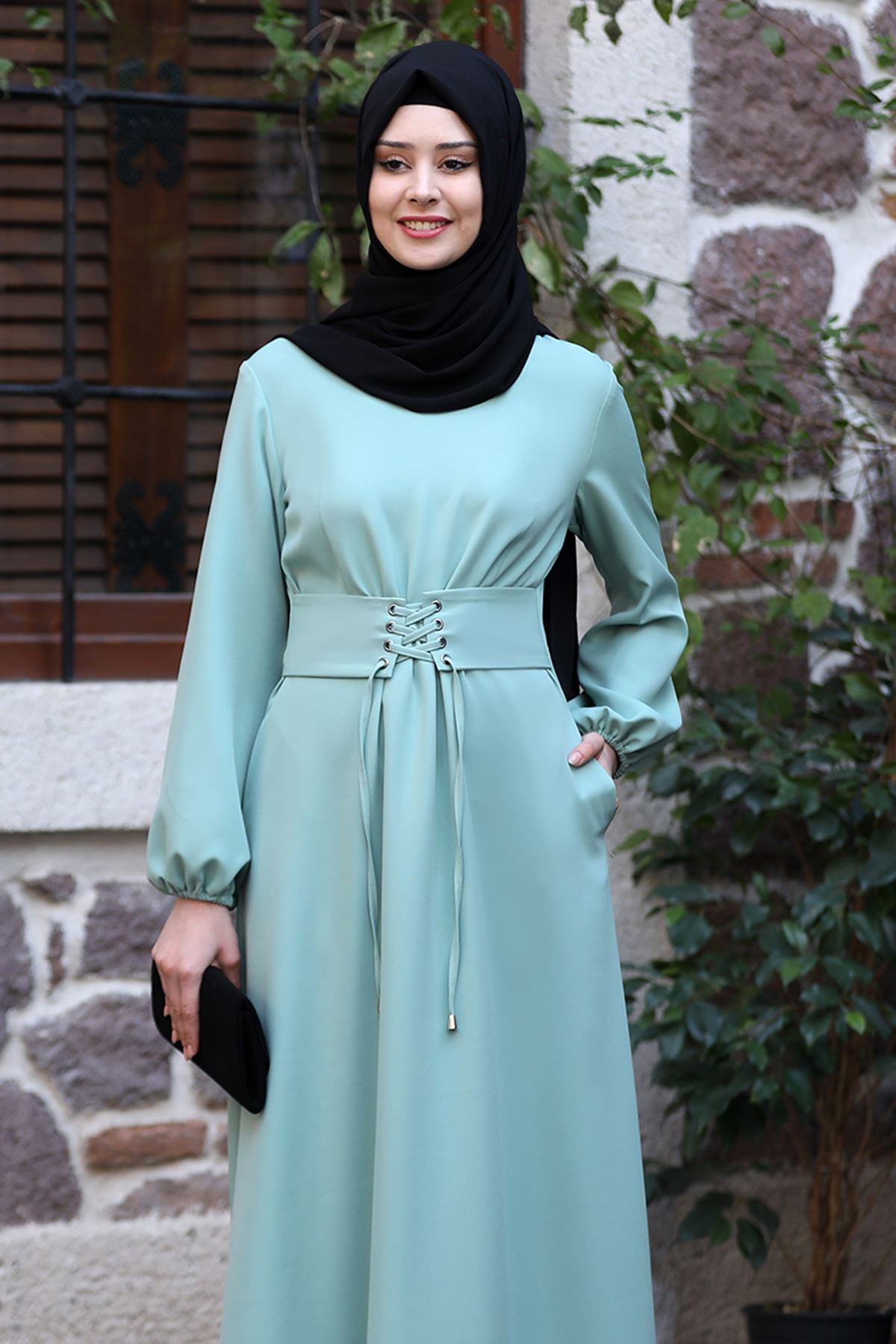 Sefa Nisa Masal Elbise Mint Yeşili SEF3506
