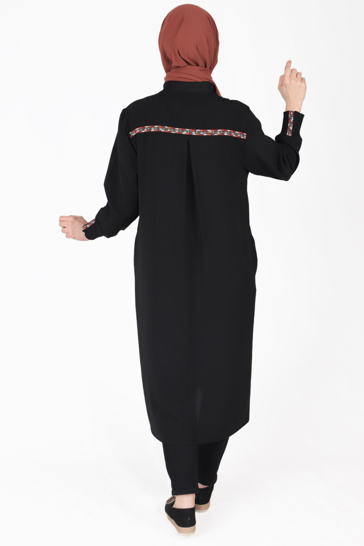 Büyük Beden Tesettür Kap Siyah 25019