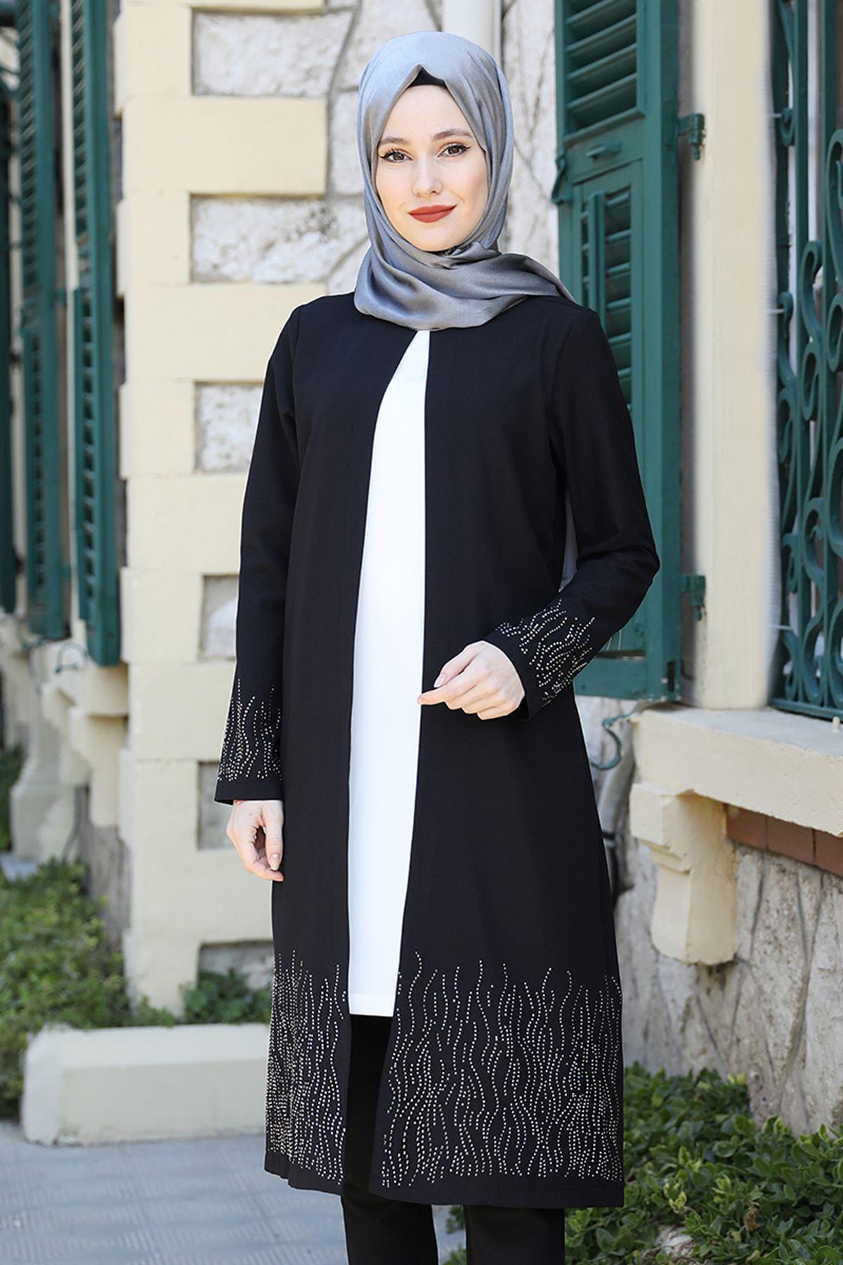 Emsale Esila İkili Takım Siyah EMS8327