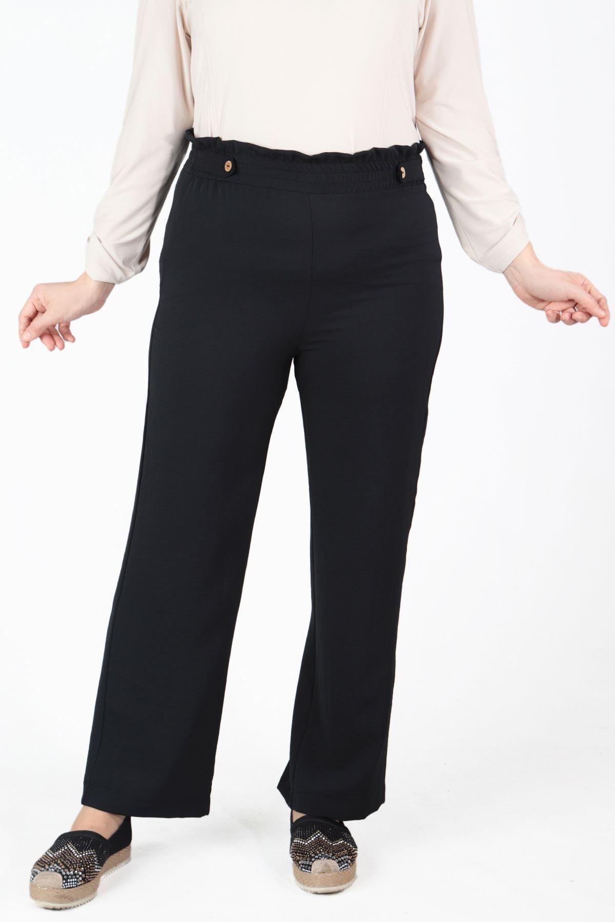 Büyük Beden Pantolon Siyah 10505
