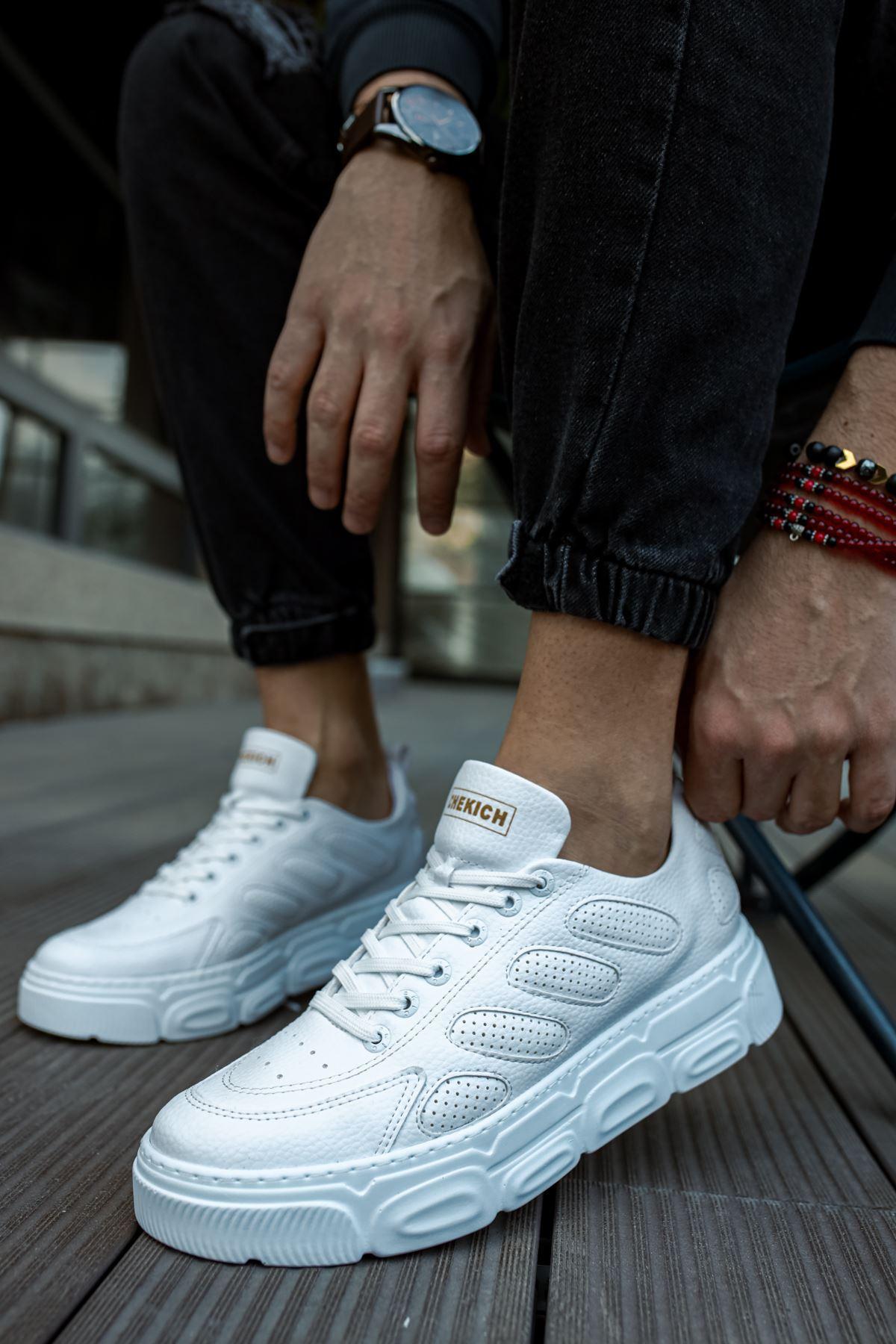 Chekich CH105 BT Erkek Ayakkabı BEYAZ