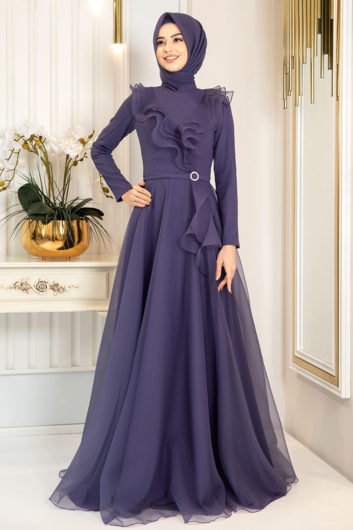 Pınar Şems Zara Abiye Lila PNR6139