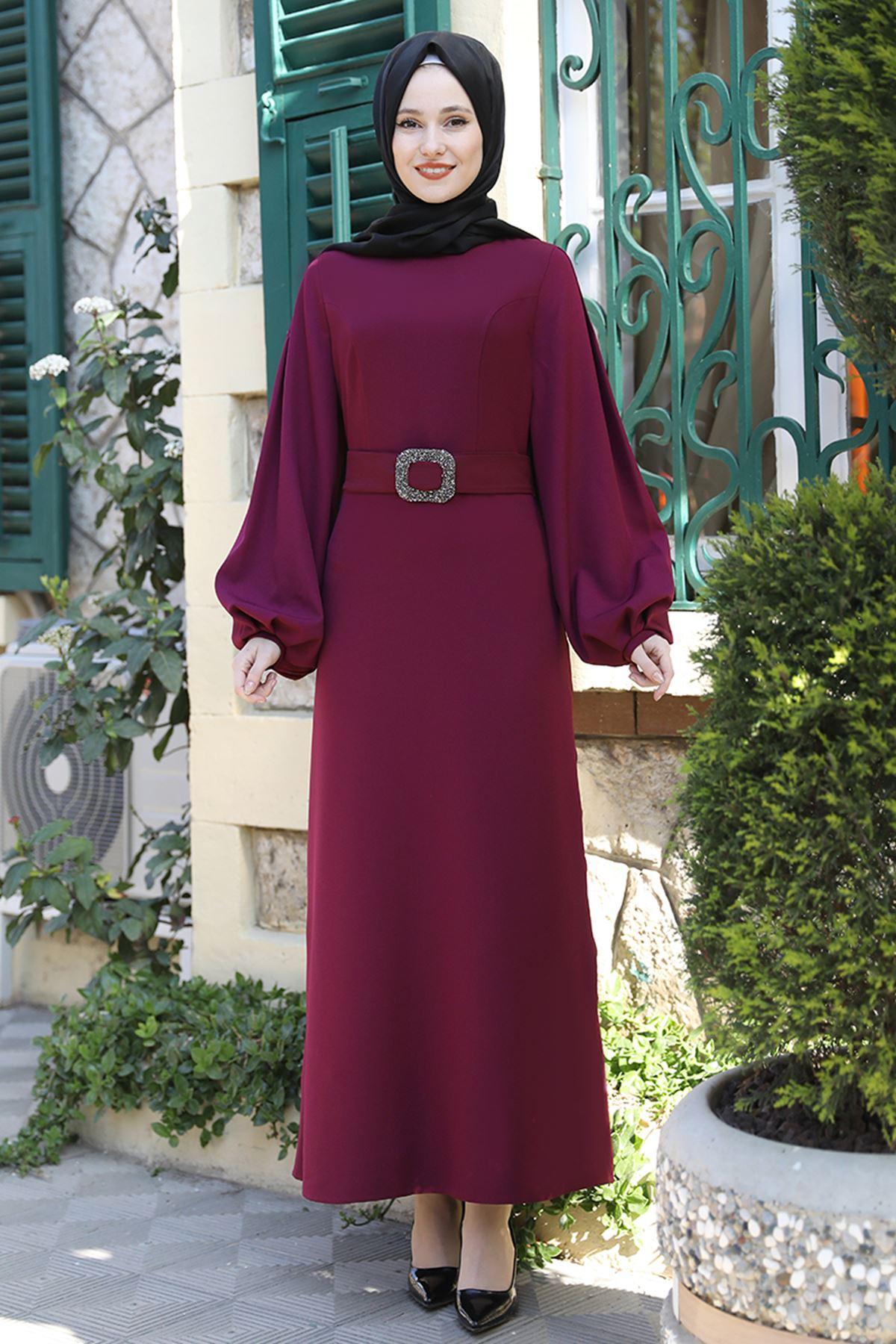 Emsale Aycan Elbise Mürdüm EMS8330