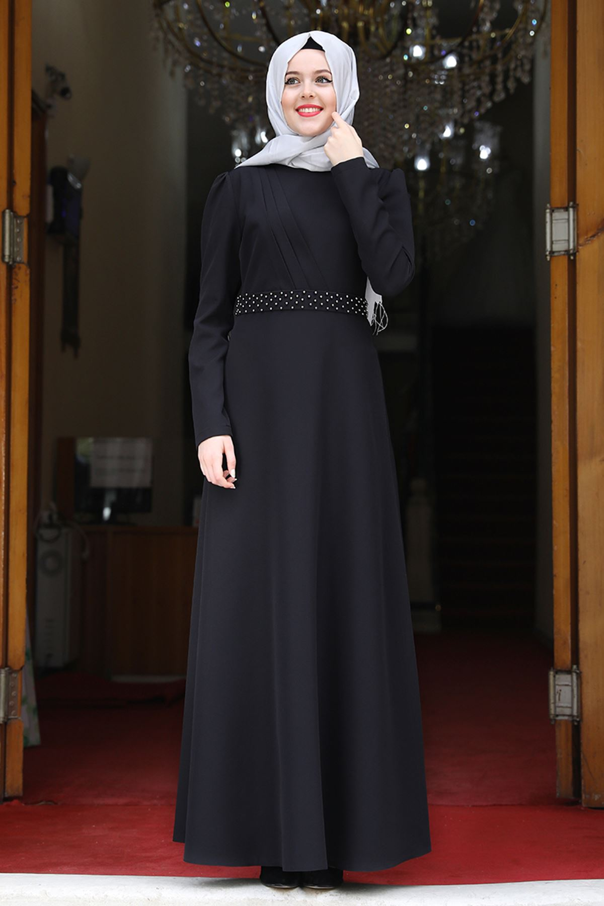 Esmaca Nergis Elbise Siyah  ESC10023