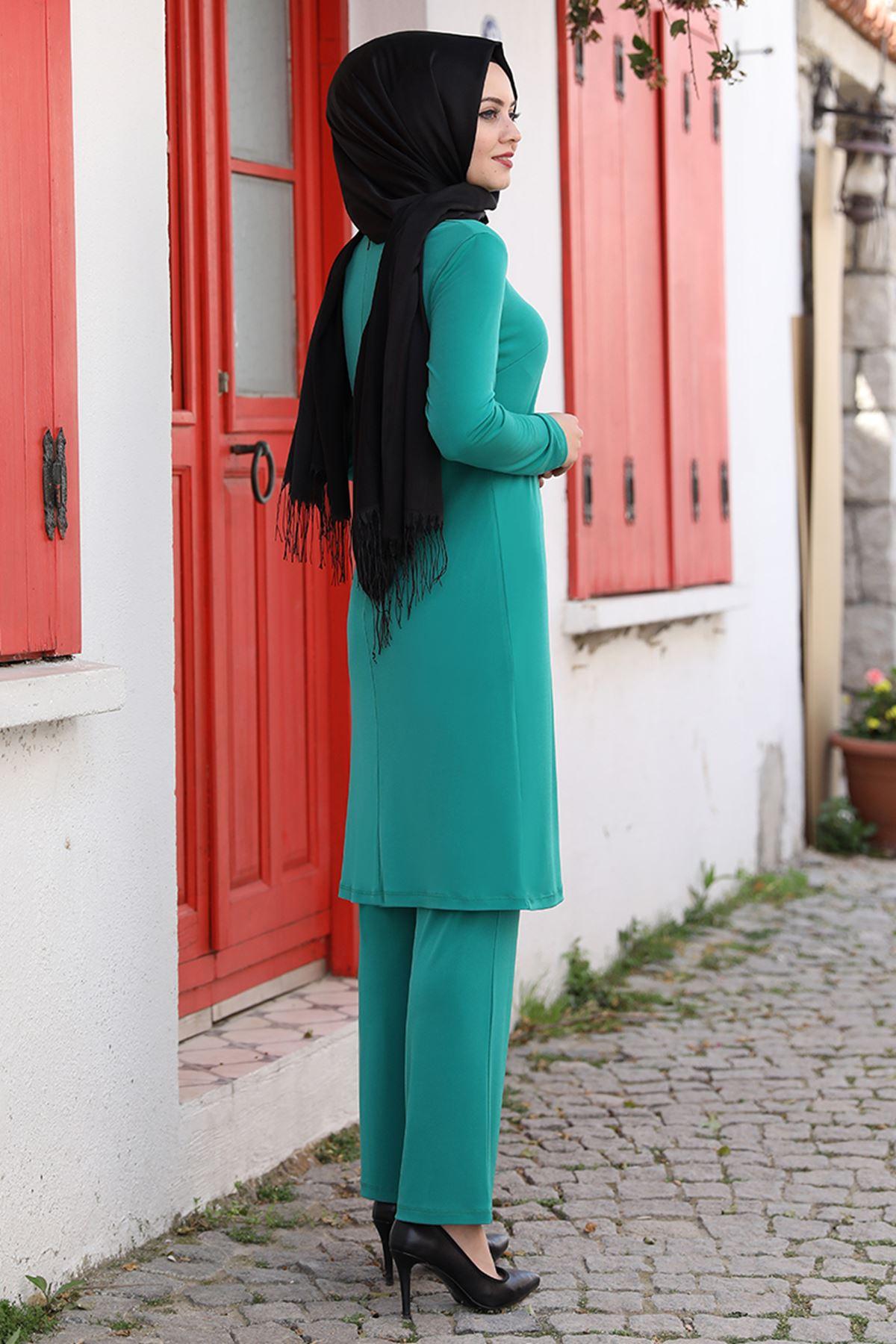 Ahunisa Seren İkili Takım Yeşil AHU9317