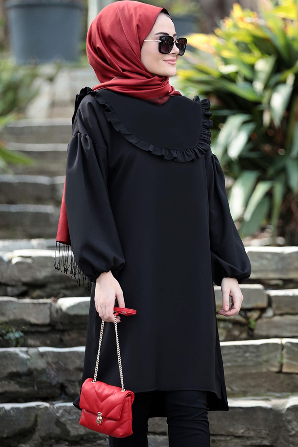 Seda Tiryaki Vera Tunik Siyah SED3705