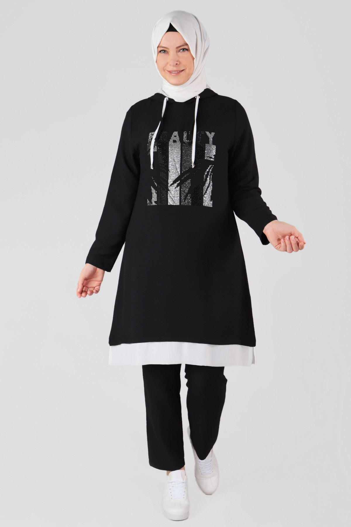 Büyük Beden Pantolon 10506 Siyah