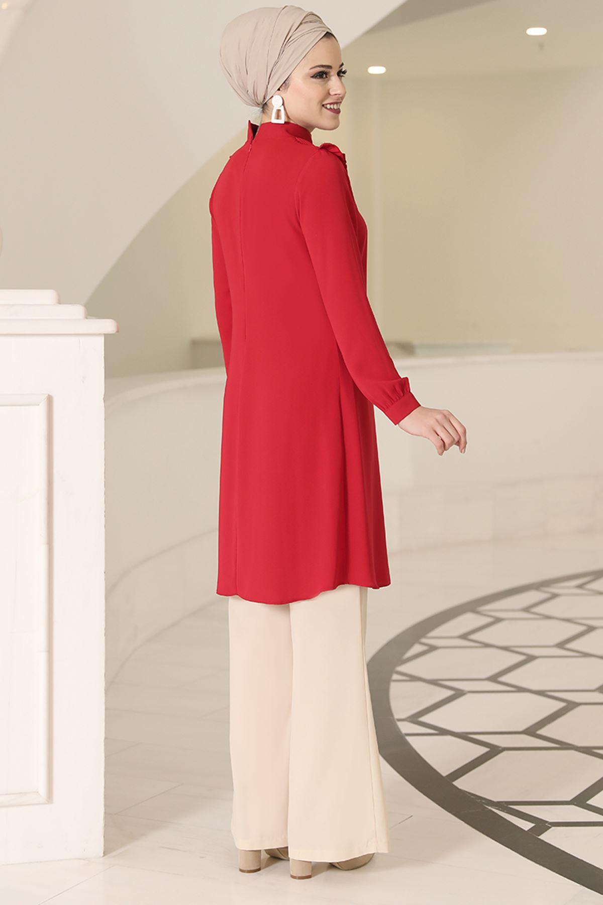 DressLife  Sima Tunik Kırmızı DRE2023