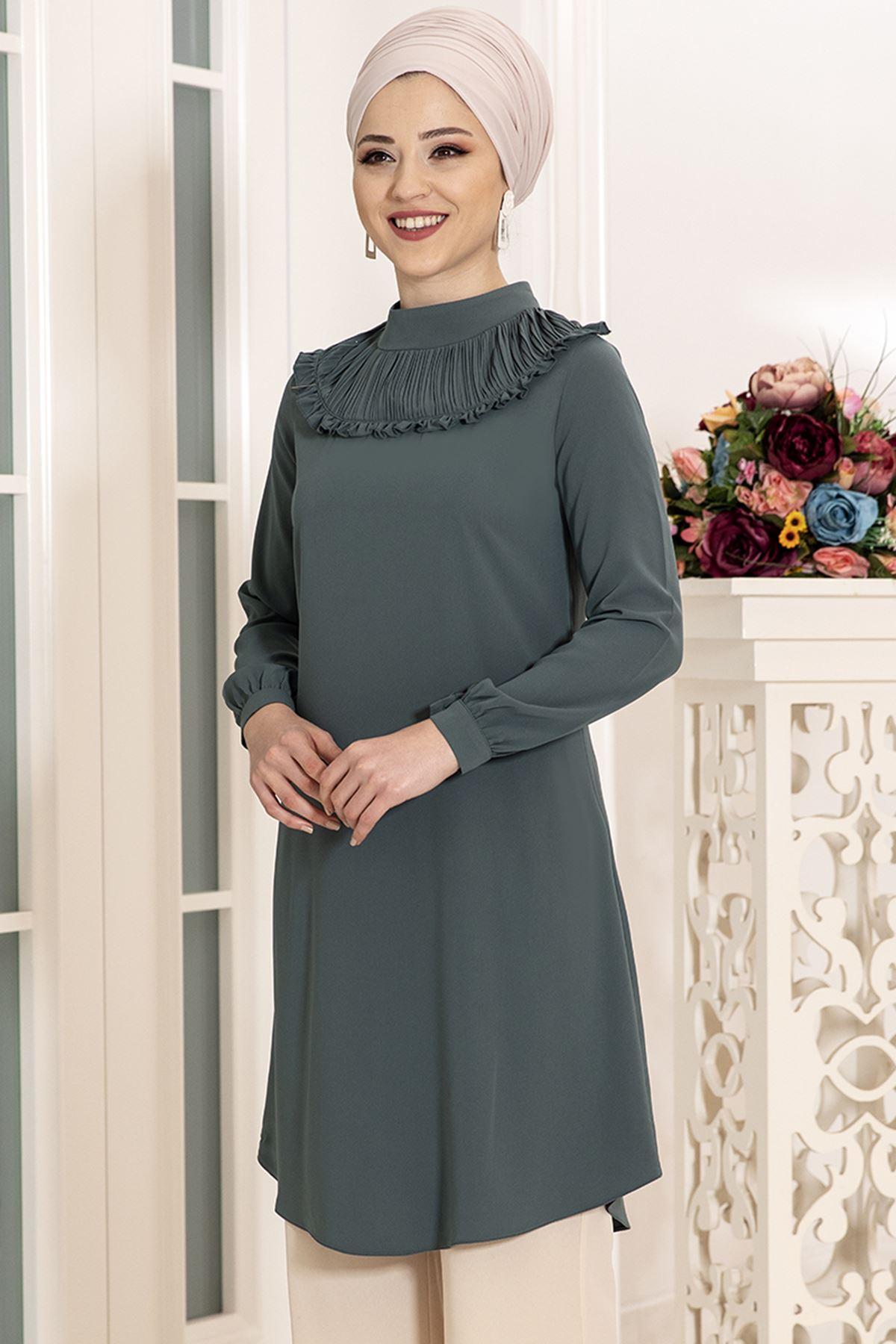 DressLife  Sima Tunik Mint Yeşili DRE2023