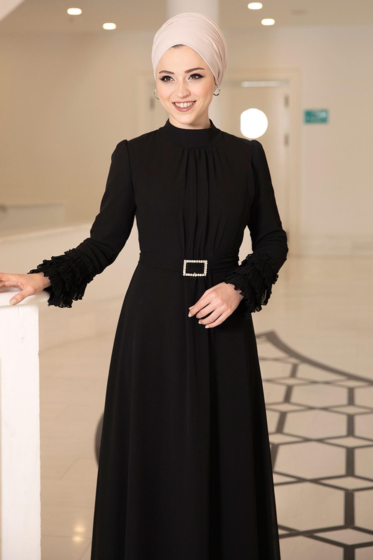 DressLife  Lina Elbise Siyah DRE2025