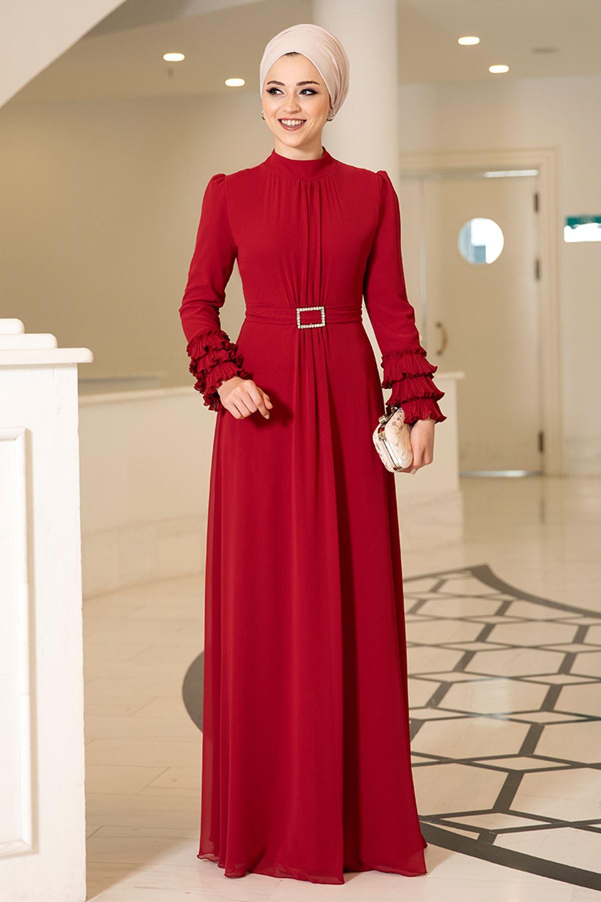 DressLife  Lina Elbise Kırmızı DRE2025