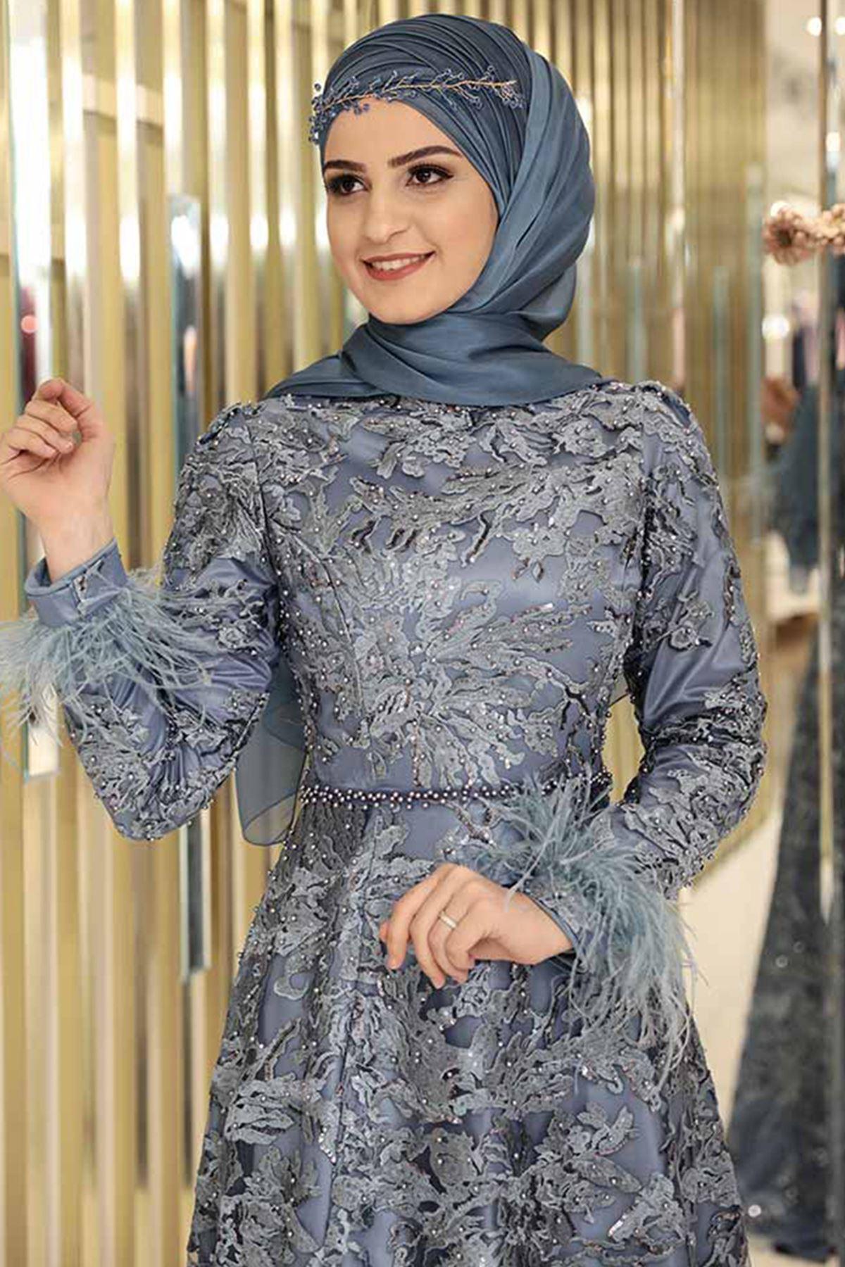 Pınar Şems Gülnur Abiye İndigo PNR6114