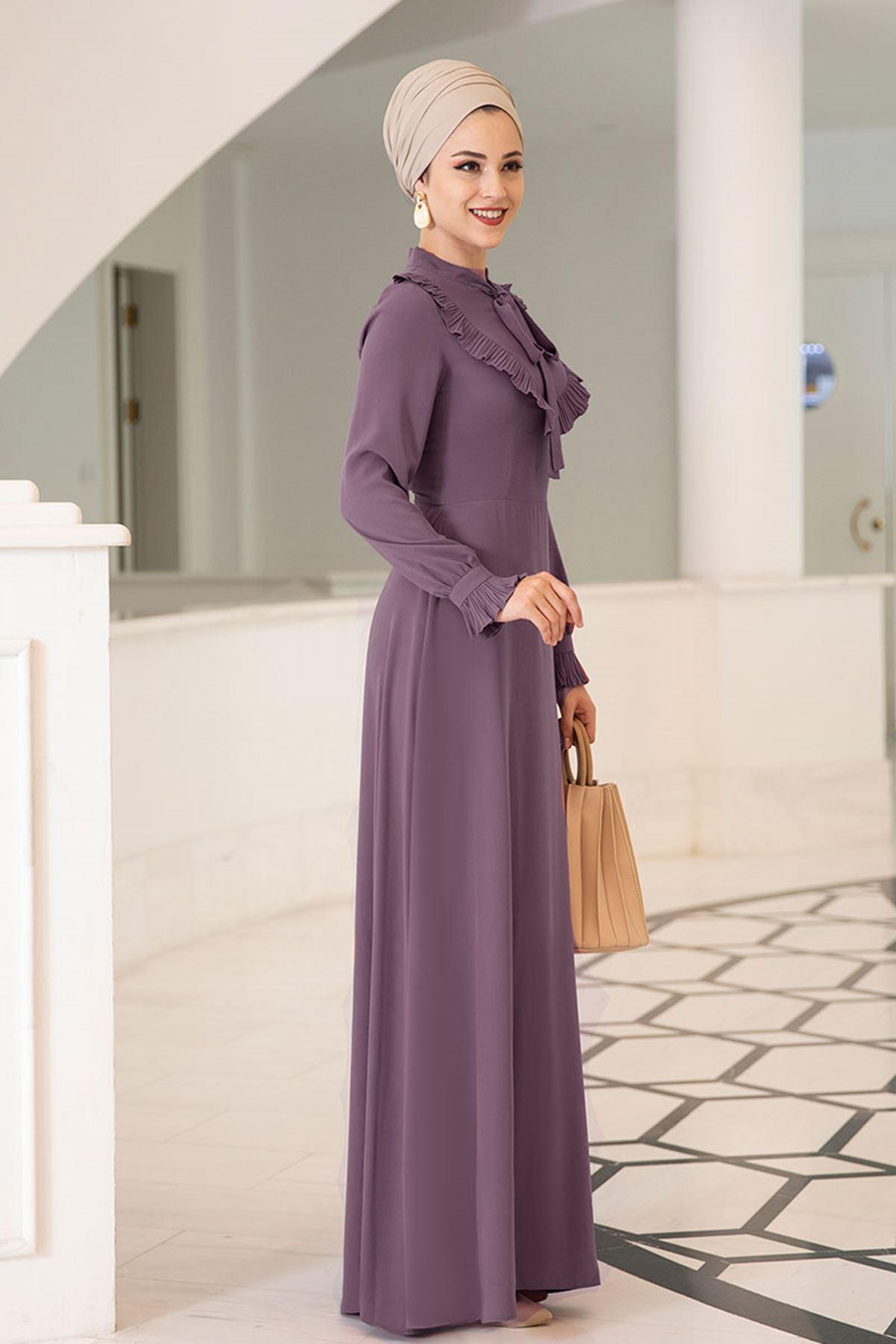 Dresslife Irmak Elbise Mor DRE2009