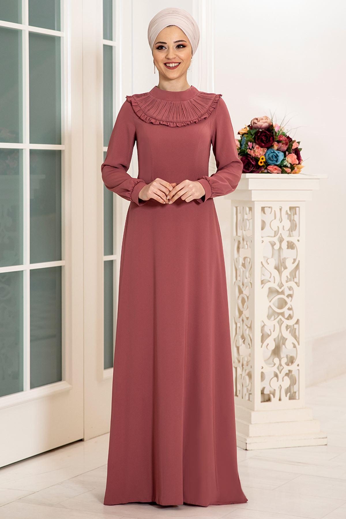 DressLife  Selin Elbise Gül Kurusu DRE2027