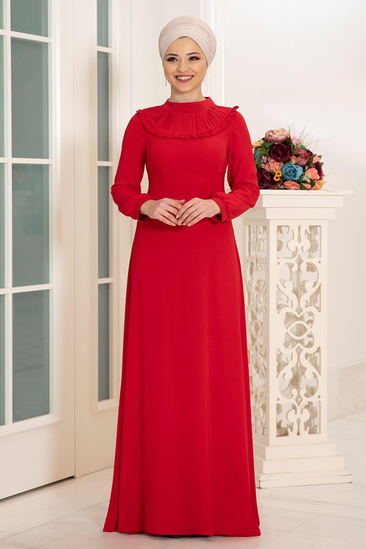 DressLife  Selin Elbise Kırmızı DRE2027