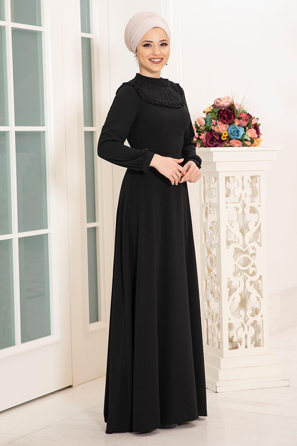 DressLife  Selin Elbise Siyah DRE2027