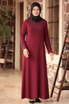 Amine Hüma - Zarif Elbise Bordo AMİ1035