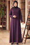 Amine Hüma - Zarif Elbise Mor AMİ1035