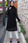 Taş Detaylı Tunik Siyah