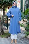 Fırfırlı Tunik Bebe Mavi