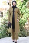 Feray Tunik Pantolon Takım Yağ Yeşili