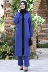 Ahunisa Feray Tunik Pantolon Takım İndigo AHU9308