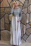 Semra Aydın Ebru Elbise Gri SMR4305
