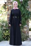 Semra Aydın Naz Elbise Siyah SMR4303