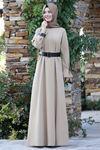 Semra Aydın Naz Elbise Vizon SMR4303