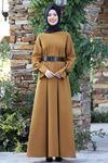 Semra Aydın Naz Elbise Hardal SMR4303