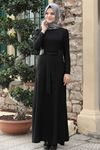 Emsale Buket Elbise Siyah EMS8322