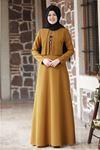Esmaca Eylül Elbise Hardal Sarısı ESC10020