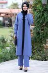 Ahunisa Feray Tunik Pantolon Takım Bebe Mavi AHU9308
