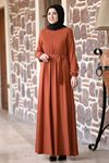 Rana Zenn Ceren Elbise Kiremit RAN6929