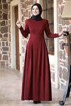 Rana Zenn Öykü Elbise Bordo RAN6930